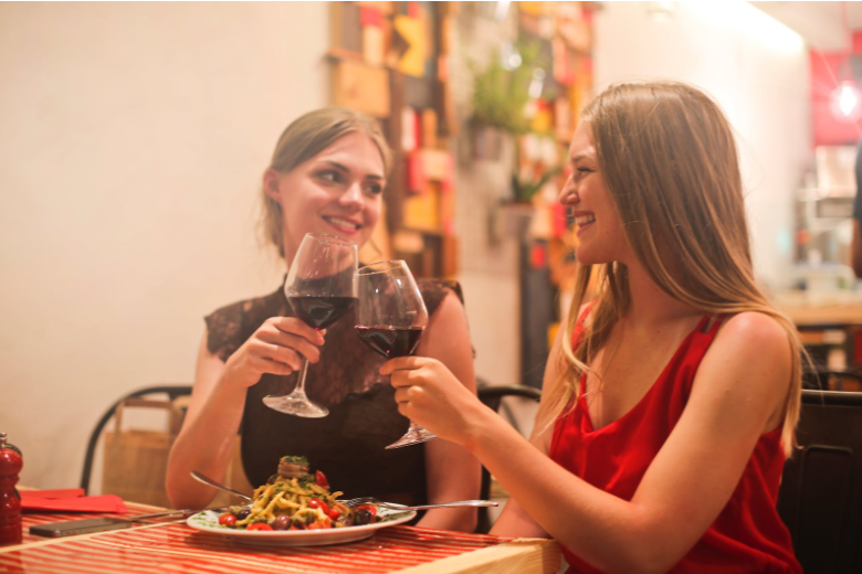 drinking wine with your dinner